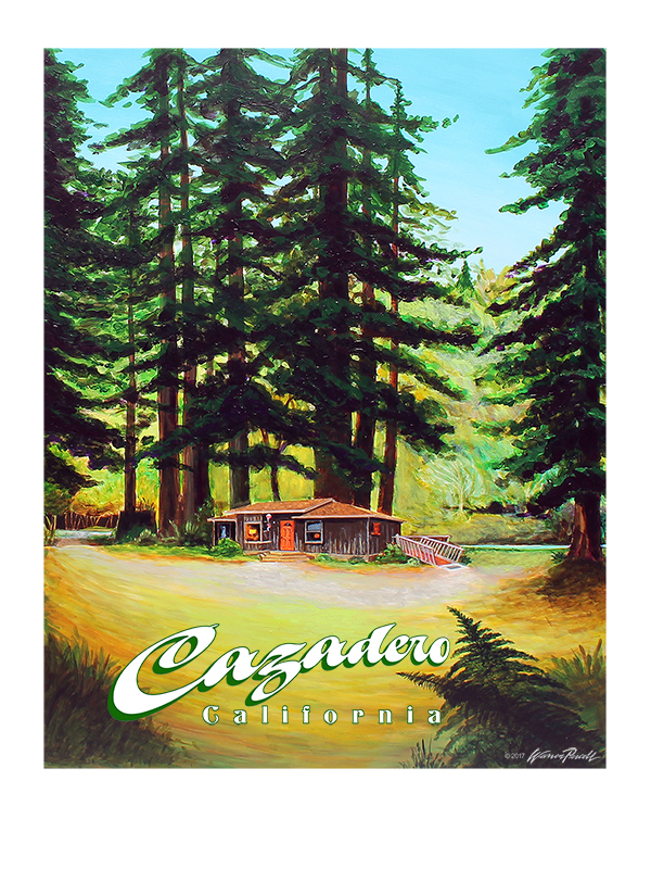 Cazadero - Wine Country Posters & Art by Warren R. Percell Sr.