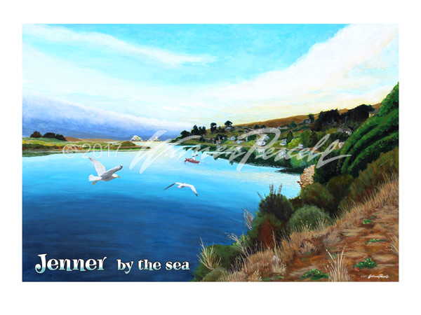 Jenner By The Sea Poster - Wine Country Posters & Art by Warren R. Percell Sr.