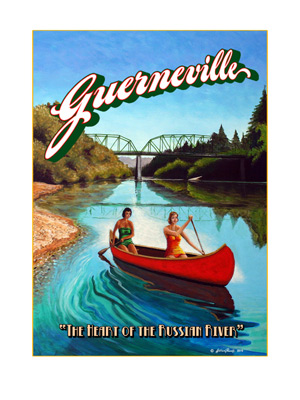 Guerneville - Wine Country Posters & Art by Warren R. Percell Sr.