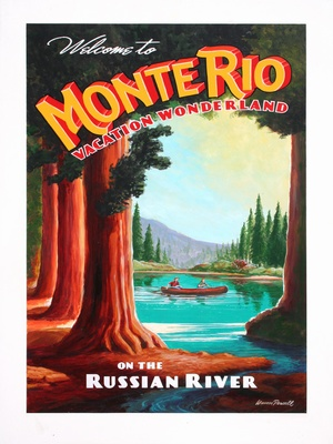 Monte Rio Poster - Wine Country Posters & Art by Warren R. Percell Sr.