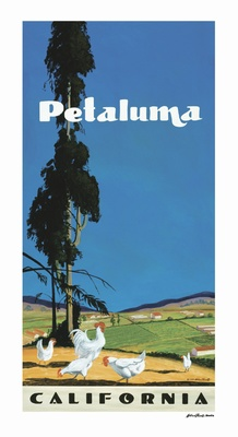 Petaluma Poster - Wine Country Posters & Art by Warren R. Percell Sr.