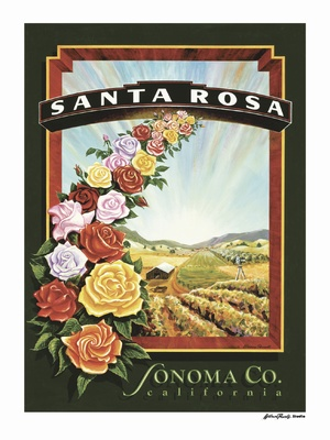 Santa Rosa - Wine Country Posters & Art by Warren R. Percell Sr.