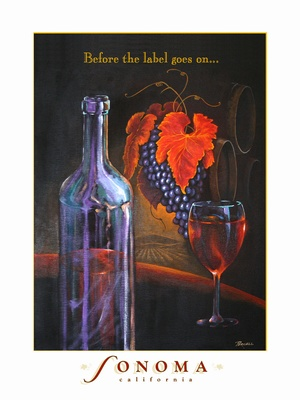 Sonoma Poster - Wine Country Posters & Art by Warren R. Percell Sr.