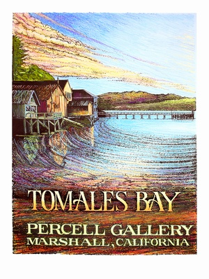 Tomales Bay Poster - Wine Country Posters & Art by Warren R. Percell Sr.